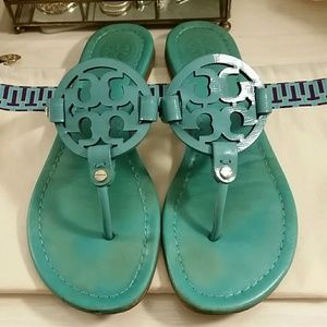 9e499cad55741 Tory Burch Shoes - Tiffany Blue Tory Burch Miller Sandals in